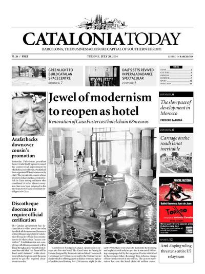 Catalonia Today. 20/7/2004. [Issue]